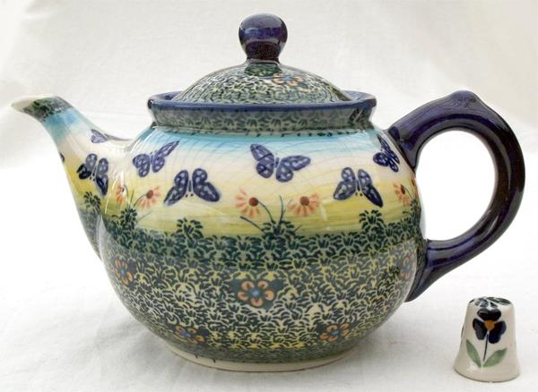 Teekanne, 0,7 L Aus Original Bunzlauer Keramik Im Dekor