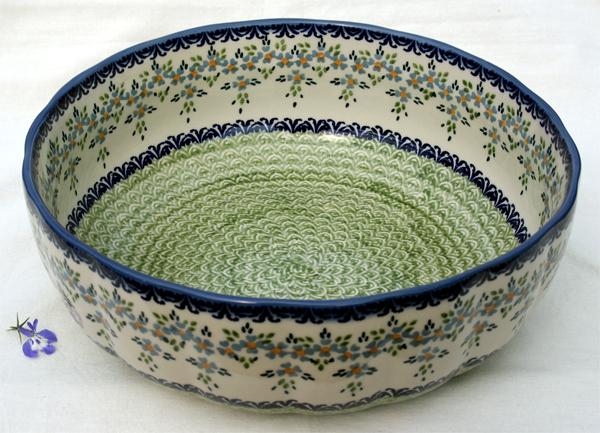 fr chteschale 30 cm aus original bunzlauer keramik im dekor barbara. Black Bedroom Furniture Sets. Home Design Ideas