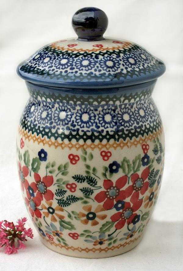 Vorratsdosen Keramik Landhaus vorratsdose 1 l aus original bunzlauer keramik im dekor cornelia